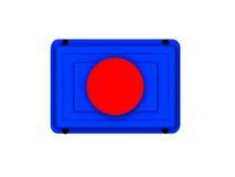 застегните икону красным бесплатная иллюстрация