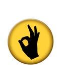 застегните икону одобренным Стоковые Изображения RF