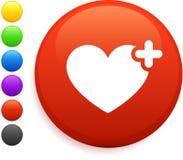 застегните интернет иконы сердца круглым Стоковые Фото