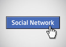 застегните сеть социальным Стоковое Фото