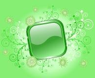 застегните флористическую рамку стекловидным Стоковые Изображения