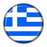 застегните форму Греции флага круглую Стоковые Фотографии RF