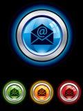 застегните электронную почту лоснистой Стоковые Изображения RF