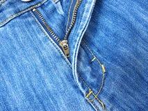 застежка-молния джинсыов стоковое фото