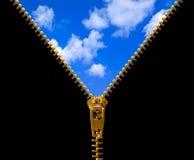 застежка -молния неба стоковая фотография rf