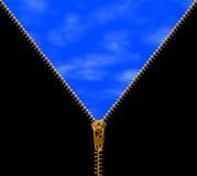 застежка -молния пасмурного неба Стоковые Изображения