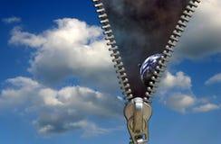 застежка -молния принципиальной схемы Стоковые Фотографии RF