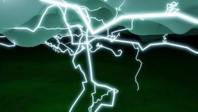 Застежка-молния ударов молнии через небо иллюстрация штока