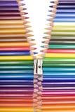 застежка -молния цвета Стоковые Изображения RF