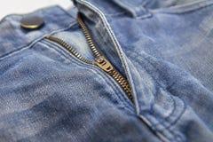 Застежка-молния джинсов Стоковая Фотография