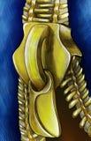 Застежка-молния на эскизе джинсов Стоковые Фото