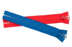 застежки -молнии голубого красного цвета Стоковые Фотографии RF