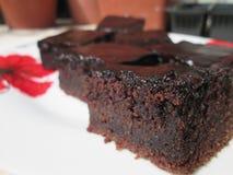 Застекленная серия пирожных шоколада Стоковое Фото