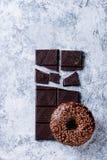 застекленный донут шоколада Стоковая Фотография RF