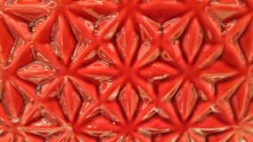 Застекленное красным цветом patterm цветка Стоковые Фотографии RF