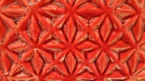 Застекленное красным цветом patterm цветка Стоковое Изображение RF