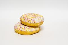 Застекленные Donuts изолировано Стоковые Изображения