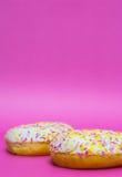 Застекленные Donuts изолировано Стоковое фото RF