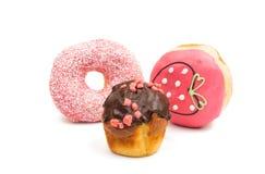 Застекленные donuts и булочки Стоковые Фото