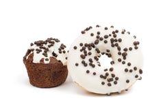 Застекленные donuts и булочки Стоковые Изображения RF