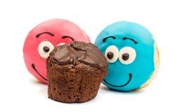 Застекленные donuts и булочки Стоковая Фотография RF