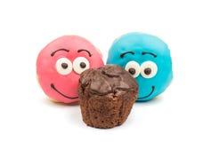 Застекленные donuts и булочки Стоковое Фото
