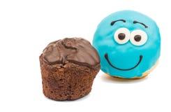 Застекленные donuts и булочки Стоковая Фотография