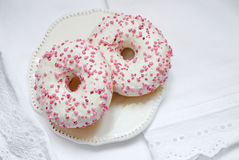 2 застекленных Donuts Стоковые Изображения