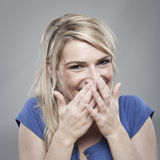 Застенчивая молодая женщина Стоковое Изображение