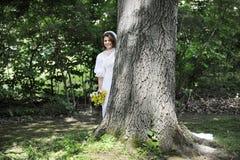 Застенчивая невеста Стоковая Фотография