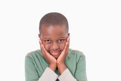Застенчивый представлять мальчика Стоковая Фотография
