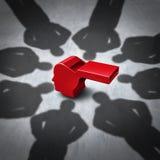 Застращивание Whistleblower иллюстрация вектора
