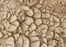 Засуха, земля трескает концепцию предпосылки стоковое изображение