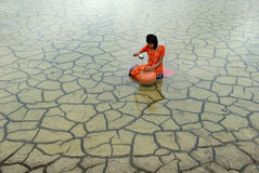 Засуха & дождевая вода стоковая фотография