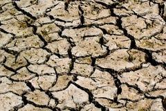 Засуха - река высушенный вверх-глобальный греть Стоковые Фото