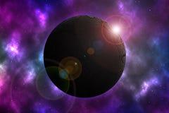 Засушливая планета на космосе Стоковая Фотография