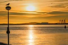 затаите заход солнца Стоковые Изображения RF