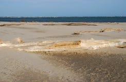 Затаите пляж Caleri около конематки Ровига Италии Rosolina Стоковое Изображение RF