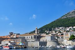 Затаите твердыню защищая городок Дубровника старый, Хорватию стоковая фотография