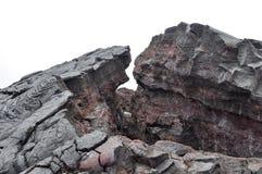 Затвердетая лава Гаваи Стоковые Изображения