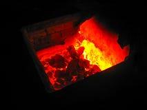Затвердетый пламенистый металл Стоковые Изображения RF