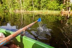 Затвор весла от шлюпки строки Стоковое Фото