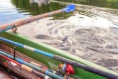 Затвор весла от шлюпки строки Стоковые Фото