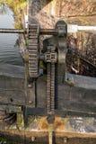 Затвор замка канала нижние/шестерня замотки Стоковая Фотография