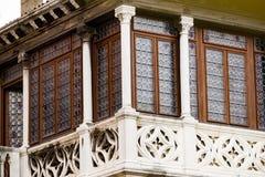 Затейливые искусство и скульптуры украшают исторические здания в Венеции, Италии стоковая фотография