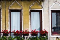 Затейливые искусство и скульптуры украшают исторические здания в Венеции, Италии Стоковое фото RF