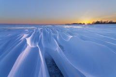 Затейливые картины снега Стоковое Изображение RF