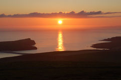затемните заход солнца simmer Стоковое Фото