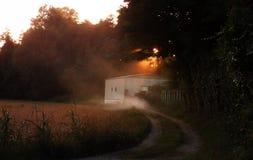 Затемнять света после дня трудной работы Стоковая Фотография