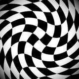Затеняемая checkered картина с спирально эффектом искажения иллюстрация вектора